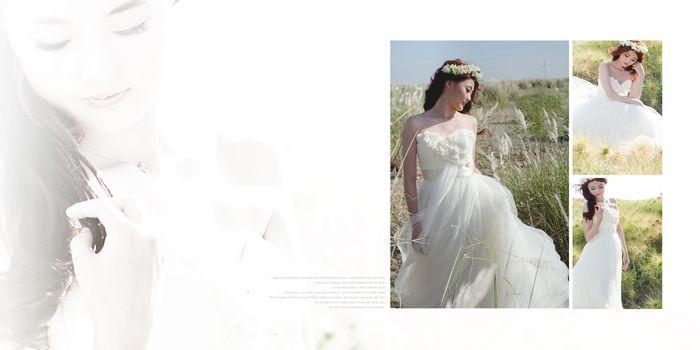 婚纱设计图与样品