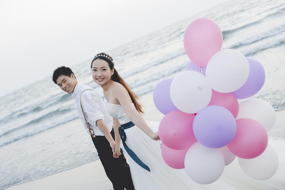 沙灘婚紗風-日出映像-台中婚紗推薦